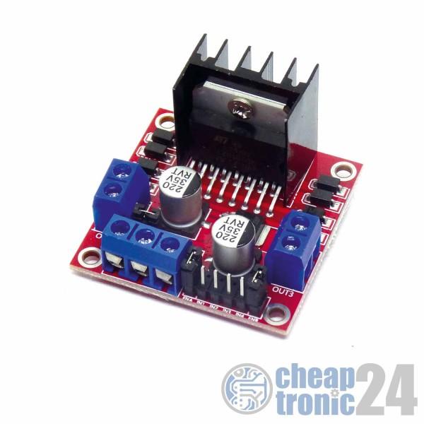 L298N Motortreiber Schrittmotor Dual H Brücke Driver 2A 5V-35V Arduino