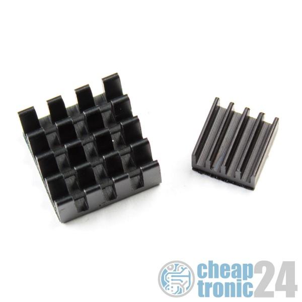 Kühlkörper Heatsink für Raspberry Pi 2 in 1 Schwarz