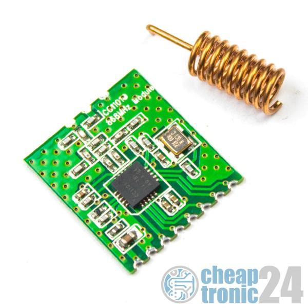 CC1101 868 MHz Modul FHEM CUL Transciever Wireless Funk Arduino Raspberry Pi