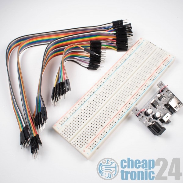 Breadboard Starter Kit Breadboard + Power Supply + 60 jumper Wirers Jumper Kabel