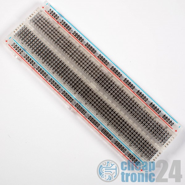Breadboard Transparent 830 Kontakte