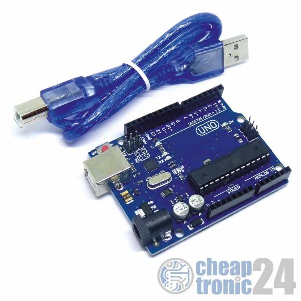 UNO R3 ATMega328P 16U2 Version incl. Kabel
