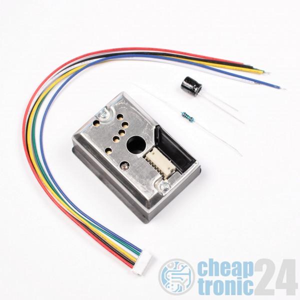 PM2.5 GP2Y1014AU0F Staubrauchsensor Dust Smoke Partikel Arduino kompatibel