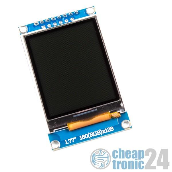 "1,77"" TFT Display 128*160 ST7735 LCD RGB Arduino Raspberry Pi"