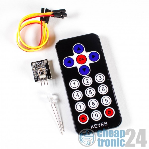 Infrarot IR Fernbedienung Sender Sensor Empfänger Set Arduino Raspberry Pi