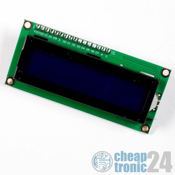 LCD 1602 + I2C Modul gelötet