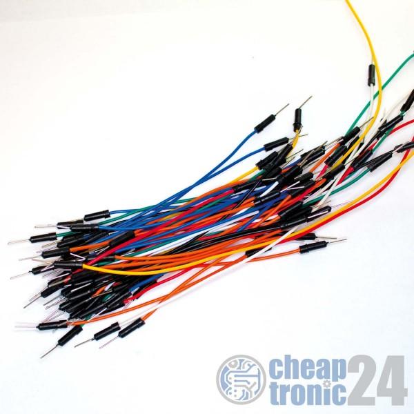65 Steckkabel Jumper für Breadboard Protoyping Arduino Raspberry Pi