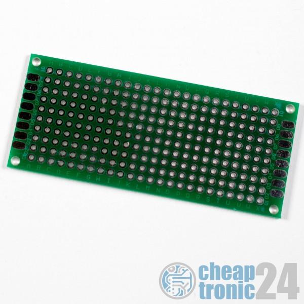 3 x7 cm Lochrasterplatine Lochrasterplatte doppelseitig verzinnt Epoxy FR-4