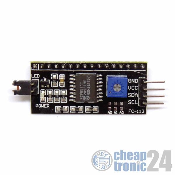 I2C Interface für LCD1602 und LCD 2004