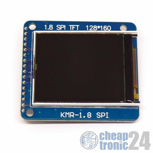 "1,8"" TFT LCD Display Modul 128 x160 ILI9163 SPI SD Card Adapter Arduino Raspberry Blau"