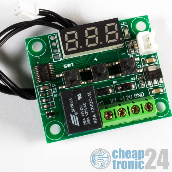 W1209 12V Thermostat Temperatur-Regler Schalter Arduino Raspberry Pi
