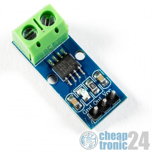 ACS712 30A Stromsensor Current Hall Sensor Analog Arduino Raspberry Pi